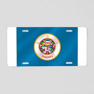 Minnesota Flag Aluminum License Plate