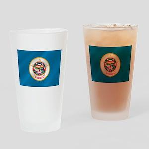 Minnesota Flag Drinking Glass