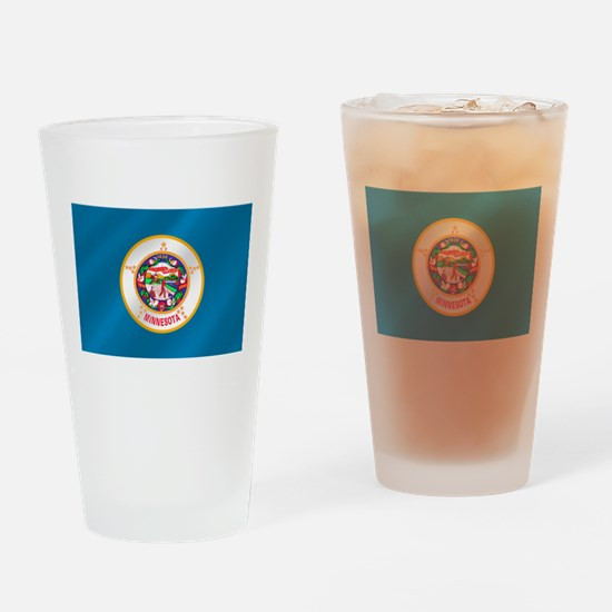 Minnesota Flag Drinking Glass