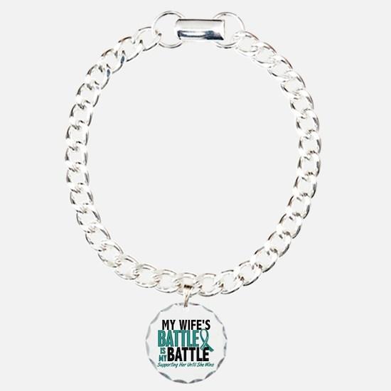 My Battle Too Ovarian Cancer Charm Bracelet, One C