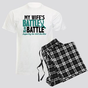 My Battle Too Ovarian Cancer Men's Light Pajamas