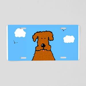 Lola The Curly Coated Dog Aluminum License Plate