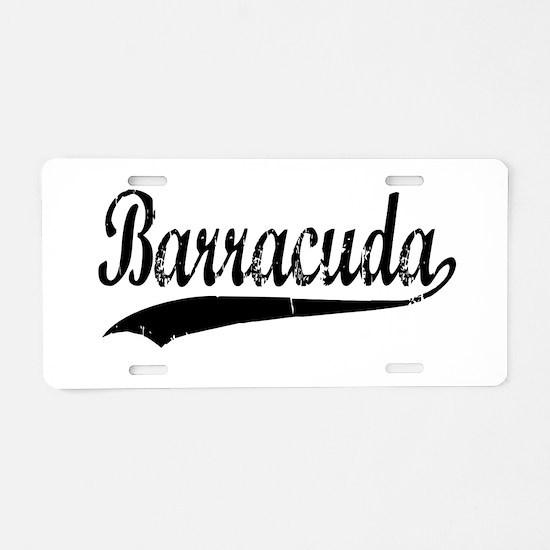 BARRACUDA Aluminum License Plate