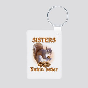 Sisters Aluminum Photo Keychain