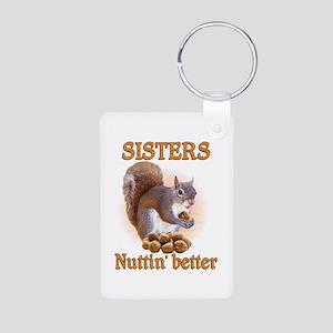 Sisters Aluminum Photo Keychain