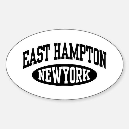 East Hampton NY Sticker (Oval)