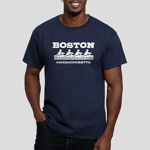 Boston Rowing Men's Fitted T-Shirt (dark)