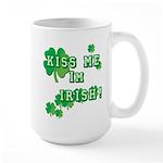 Kiss Me I'm Irish 15 oz Ceramic Large Mug