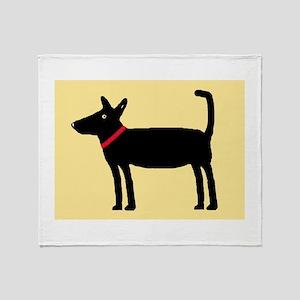 Dan The Black Dog Throw Blanket