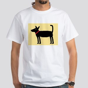 Dan The Black Dog White T-Shirt