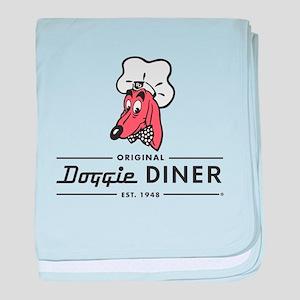 Doggie Diner restaurant logo baby blanket
