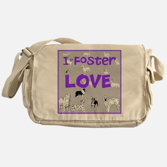Foster Dog Messenger Bag