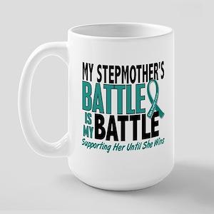 My Battle Too Ovarian Cancer Large Mug