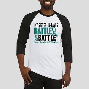 My Battle Too Ovarian Cancer Baseball Jersey