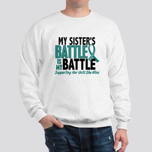 My Battle Too Ovarian Cancer Sweatshirt