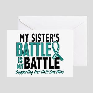 My Battle Too Ovarian Cancer Greeting Card