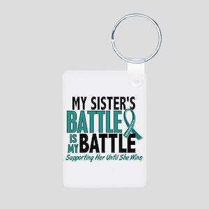 My Battle Too Ovarian Cancer Aluminum Photo Keycha