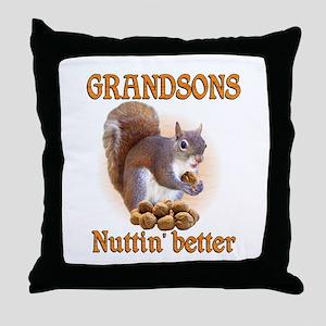Grandsons Throw Pillow