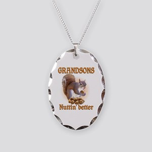 Grandsons Necklace Oval Charm