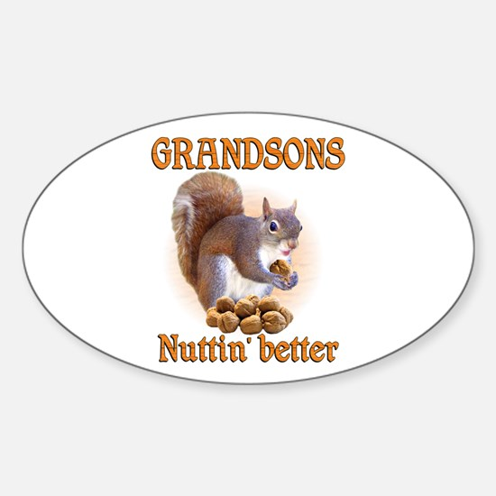 Grandsons Sticker (Oval)