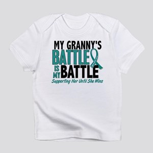 My Battle Too Ovarian Cancer Infant T-Shirt