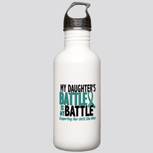 My Battle Too Ovarian Cancer Stainless Water Bottl