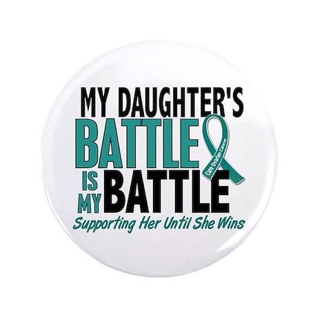 "My Battle Too Ovarian Cancer 3.5"" Button"