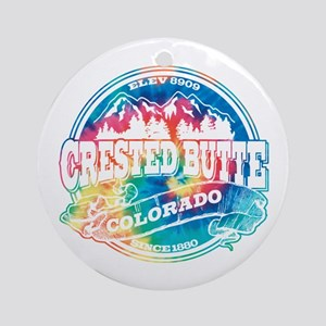Crested Butte Old Circle Ornament (Round)