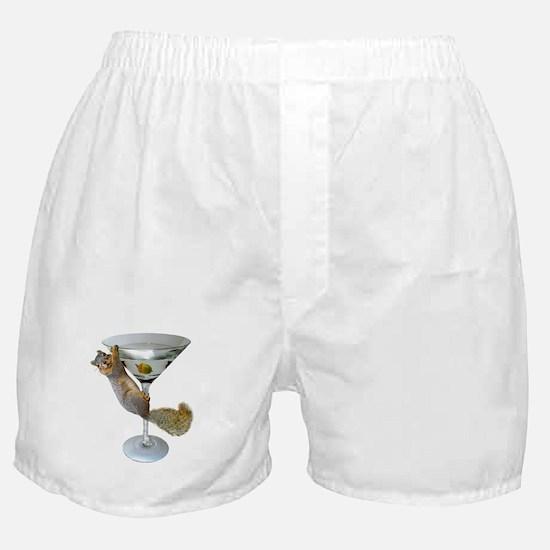 Martini Squirrel Boxer Shorts