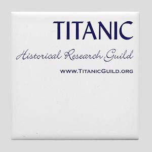 Titanic Guild Logo Ceramic Tile Coaster