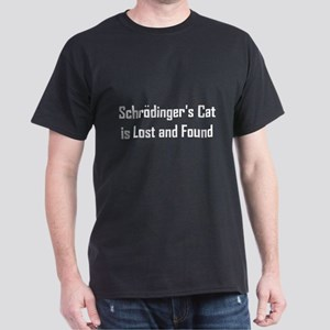 Schrodinger's Cat is Lost & Found Dark T-Shirt