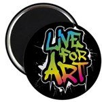 Live For Art Magnet