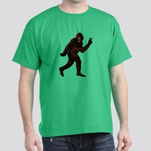 Bigfoot Yeti Sasquatch Peace Dark T-Shirt