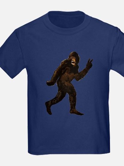 Bigfoot Yeti Sasquatch Peace T