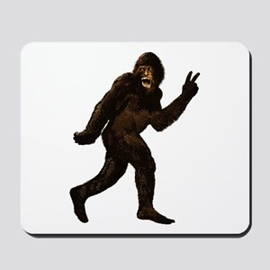 Bigfoot Yeti Sasquatch Peace Mousepad