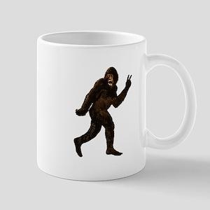Bigfoot Yeti Sasquatch Peace Mug
