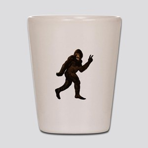 Bigfoot Yeti Sasquatch Peace Shot Glass