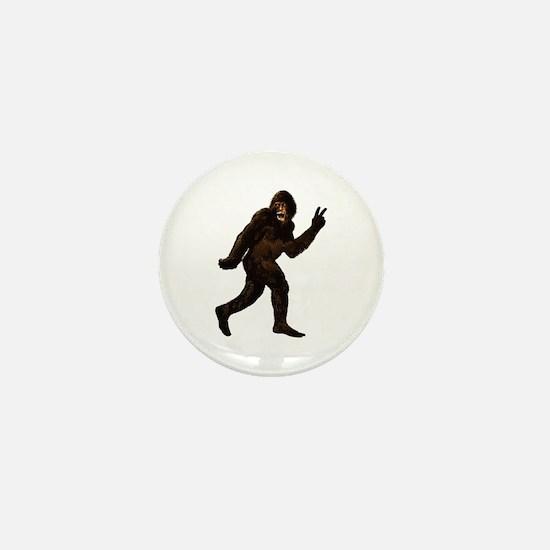Bigfoot Yeti Sasquatch Peace Mini Button