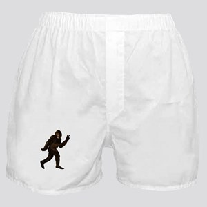 Bigfoot Yeti Sasquatch Peace Boxer Shorts