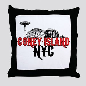 Coney Island NYC Throw Pillow