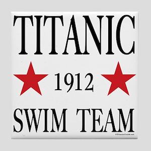 Titanic Swim Team Ceramic Tile Coaster