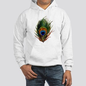 Peacock Plume Hooded Sweatshirt