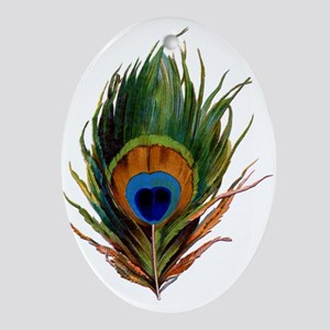 Peacock Plume Ornament (Oval)