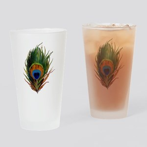 Peacock Plume Drinking Glass