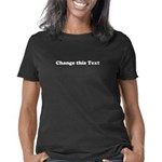 Personalize White Text Women's Classic T-Shirt