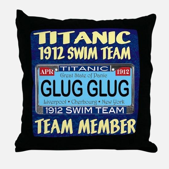 Cute Titanic neon Throw Pillow
