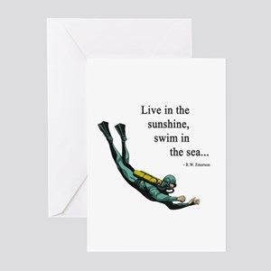 Sea Scuba Diver Greeting Cards (Pk of 20)
