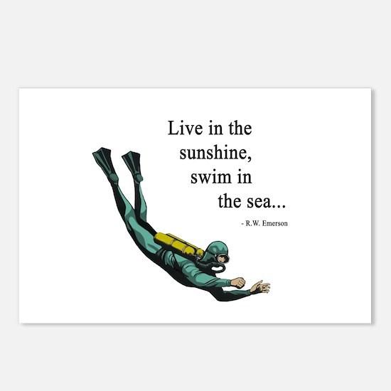 Sea Scuba Diver Postcards (Package of 8)