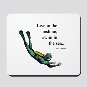 Sea Scuba Diver Mousepad