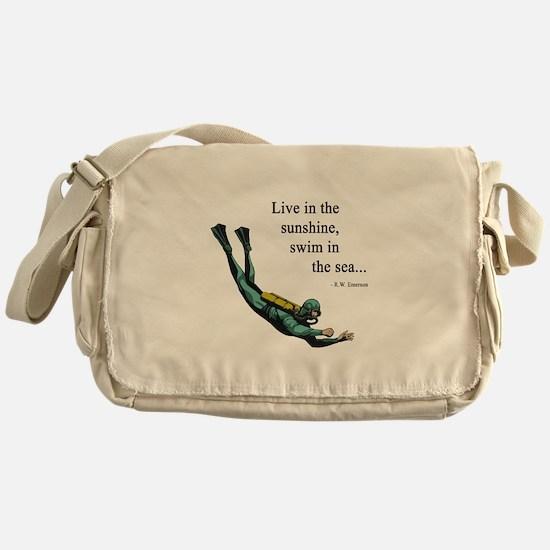 Sea Scuba Diver Messenger Bag